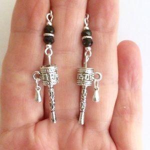 Jewelry - Prayer wheel earrings